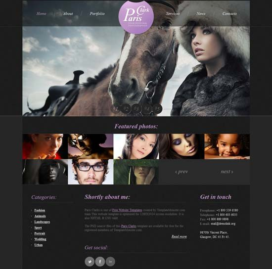 Free Photography Website Templates 50 Best Graphy Website Templates Free & Premium