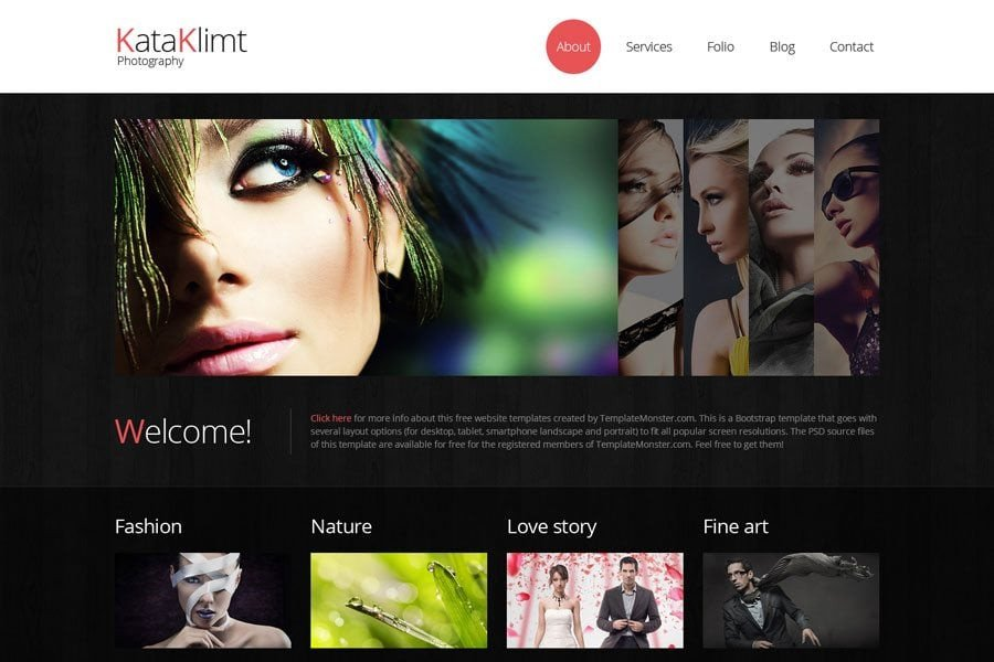 Free Photography Website Templates Free Website Templates