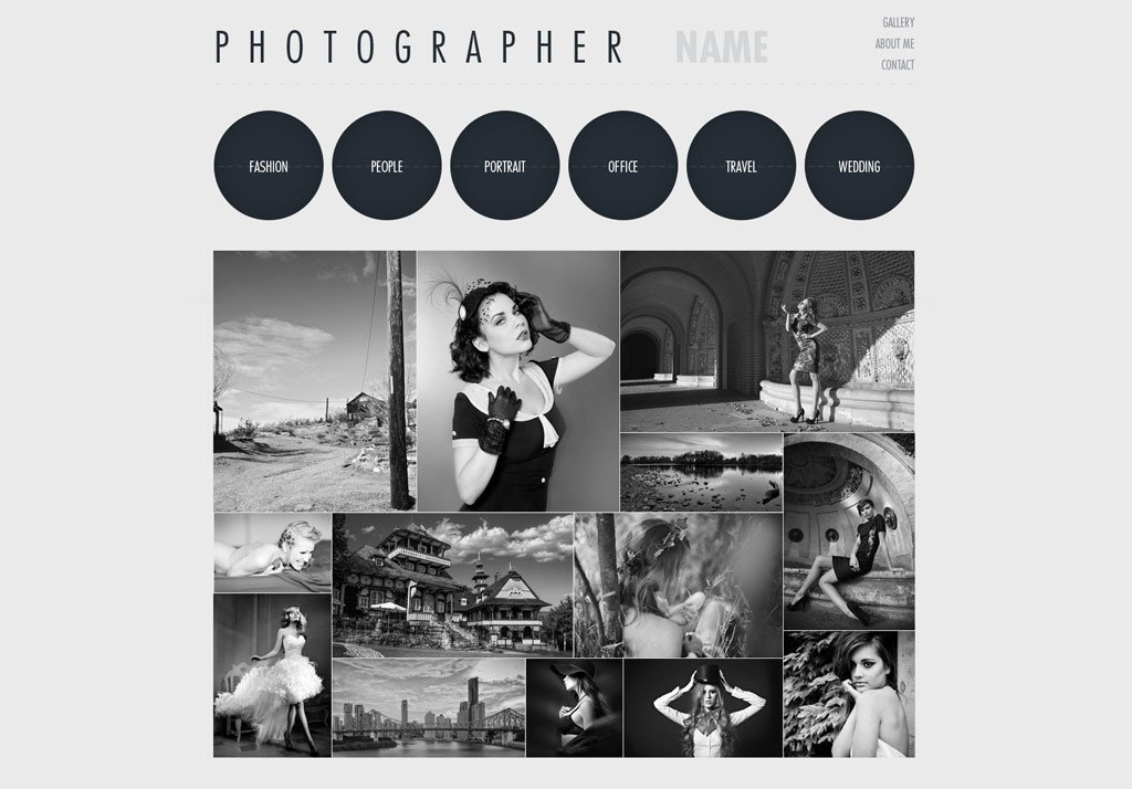 Free Photography Website Templates Graphy Website Template