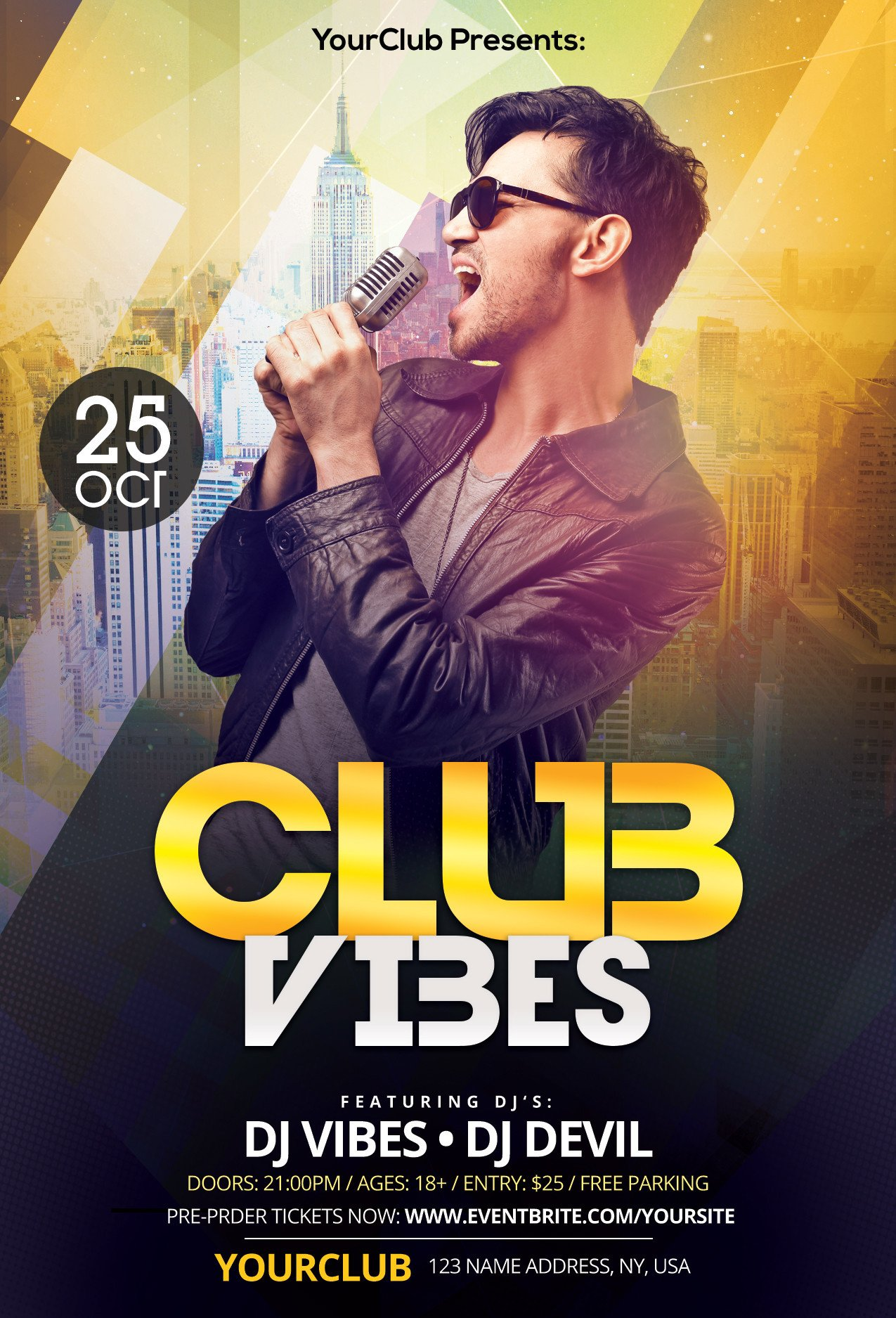 Free Photoshop Flyer Templates Club Vibes Download Free Psd Shop Flyer Template