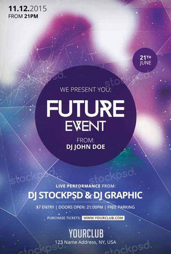Free Photoshop Flyer Templates Download Future event Free Psd Flyer Template for Shop
