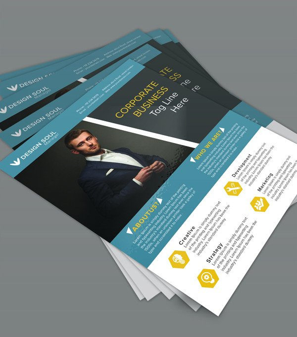 Free Photoshop Flyer Templates Free Corporate Business Flyer Psd Template