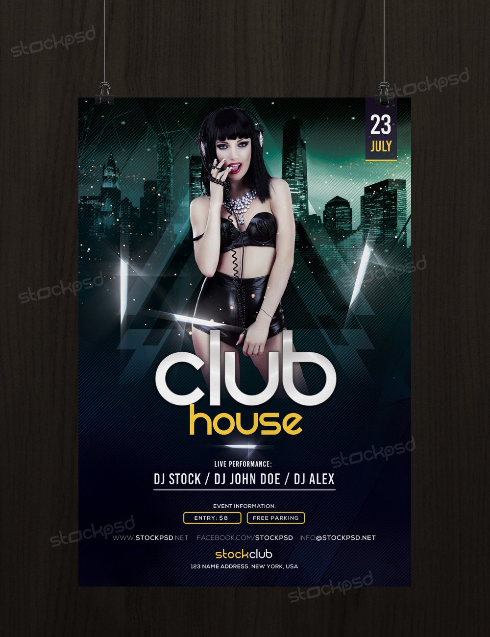 Free Photoshop Flyer Templates Get Free Club House Flyer Template Shop