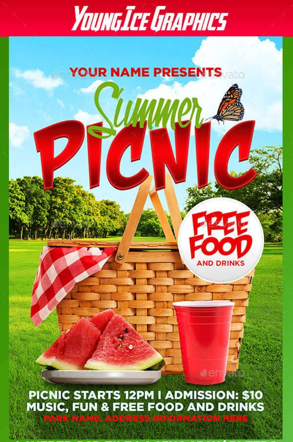 Free Picnic Flyer Template 62 Summer Flyer Designs Psd Eps Word