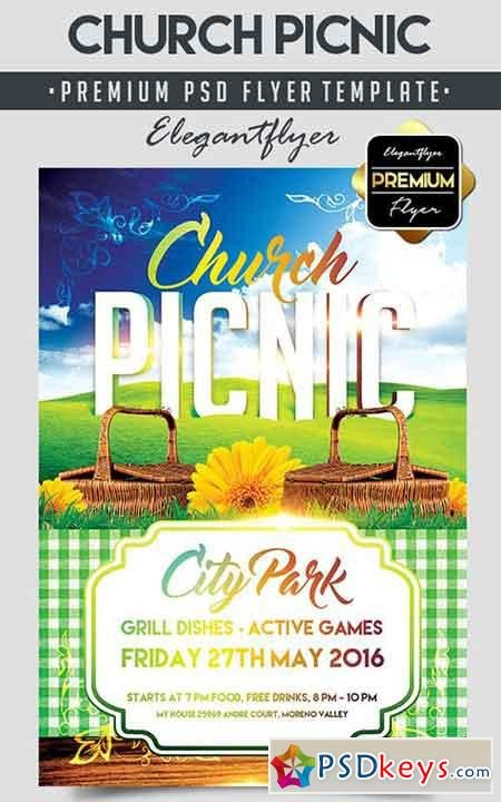 Free Picnic Flyer Template Church Picnic – Flyer Psd Template Cover Free