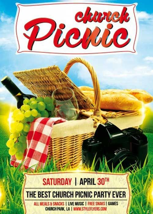 Free Picnic Flyer Template Church Picnic Psd Flyer Template Flyer Ideas