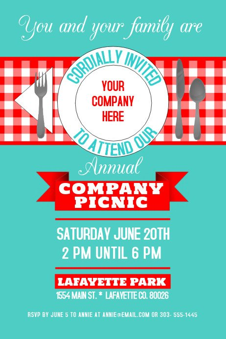 Free Picnic Flyer Template Copy Of Pany Picnic