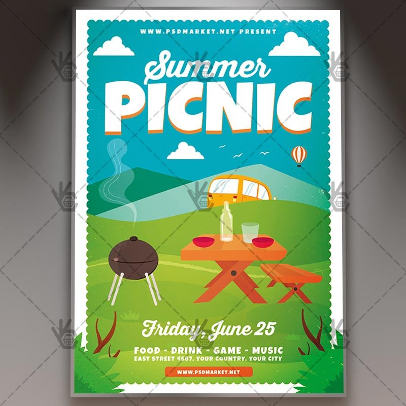 Free Picnic Flyer Template Download Summer Picnic Flyer Psd Template