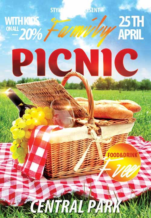 Free Picnic Flyer Template Download the Family Picnic Free Flyer Template for Shop