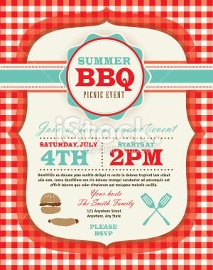 Free Picnic Flyer Template Picnic Invitation Design Template Royalty Free Stock