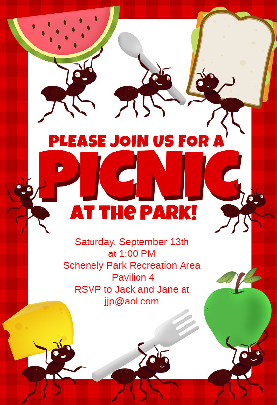 Free Picnic Flyer Template Picnic Party Dinner Party Invitation Template Free