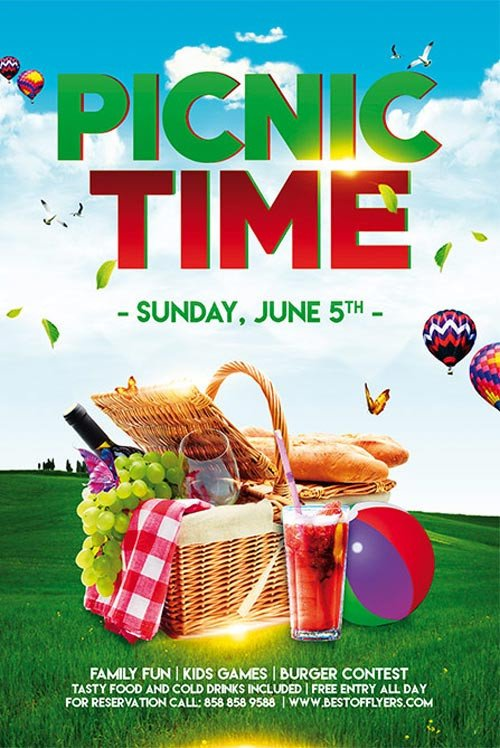 Free Picnic Flyer Template Picnic Time Free Poster Template for Munity Picnic events