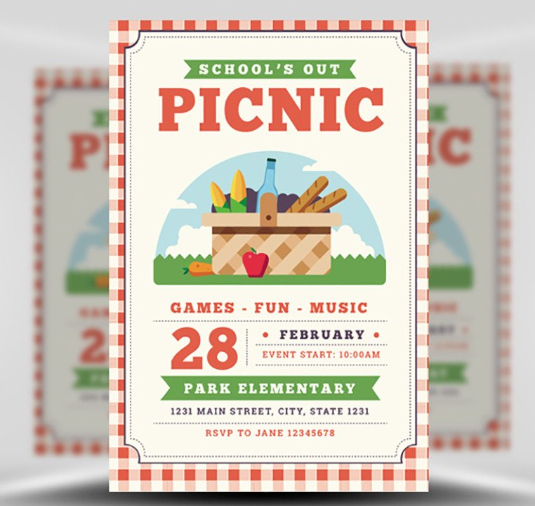 Free Picnic Flyer Template School S Out Picnic Flyer Template Flyerheroes