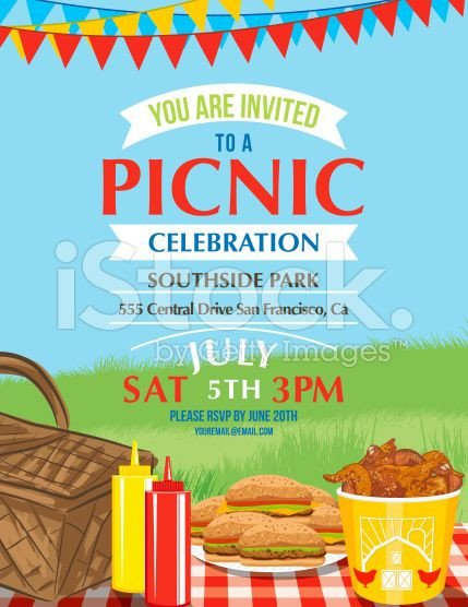 Free Picnic Flyer Template Summer Picnic and Bbq Invitation Flyer or Template Text