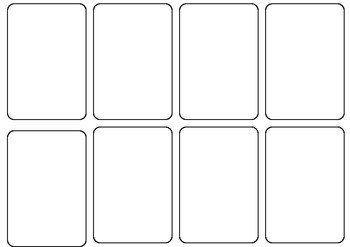 Free Playing Card Template Blank Card Game Template by Persha Darling