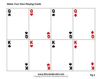 Free Playing Card Template Blank Playing Card Template