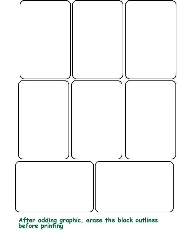 Free Playing Card Template Blank Template Hrac Karty