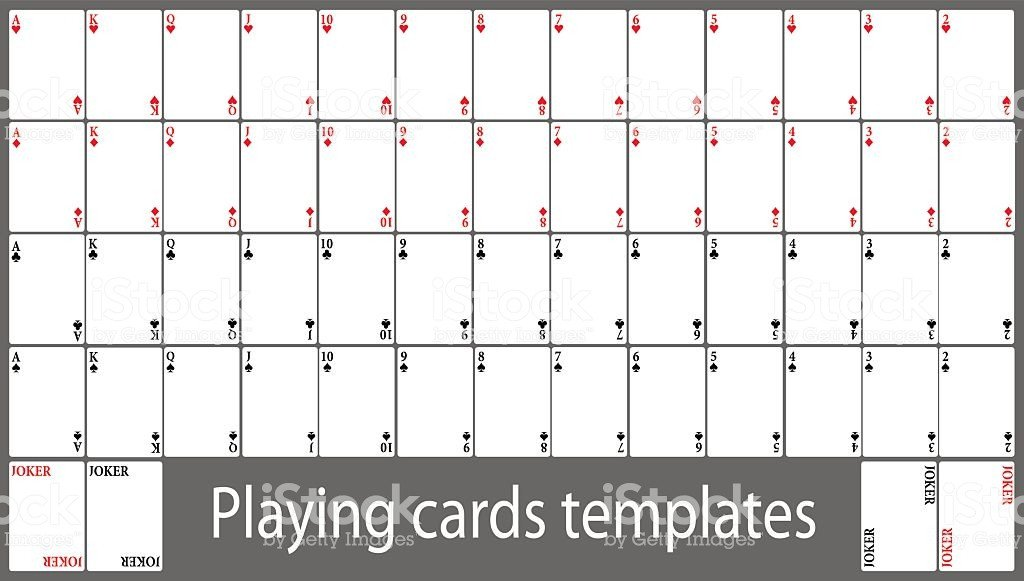 Free Playing Card Template Playing Cards Template Set Stock Vector Art