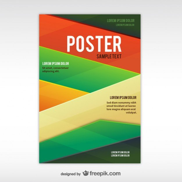 Free Poster Design Templates Geometric Abstract Poster Template Free Vectors