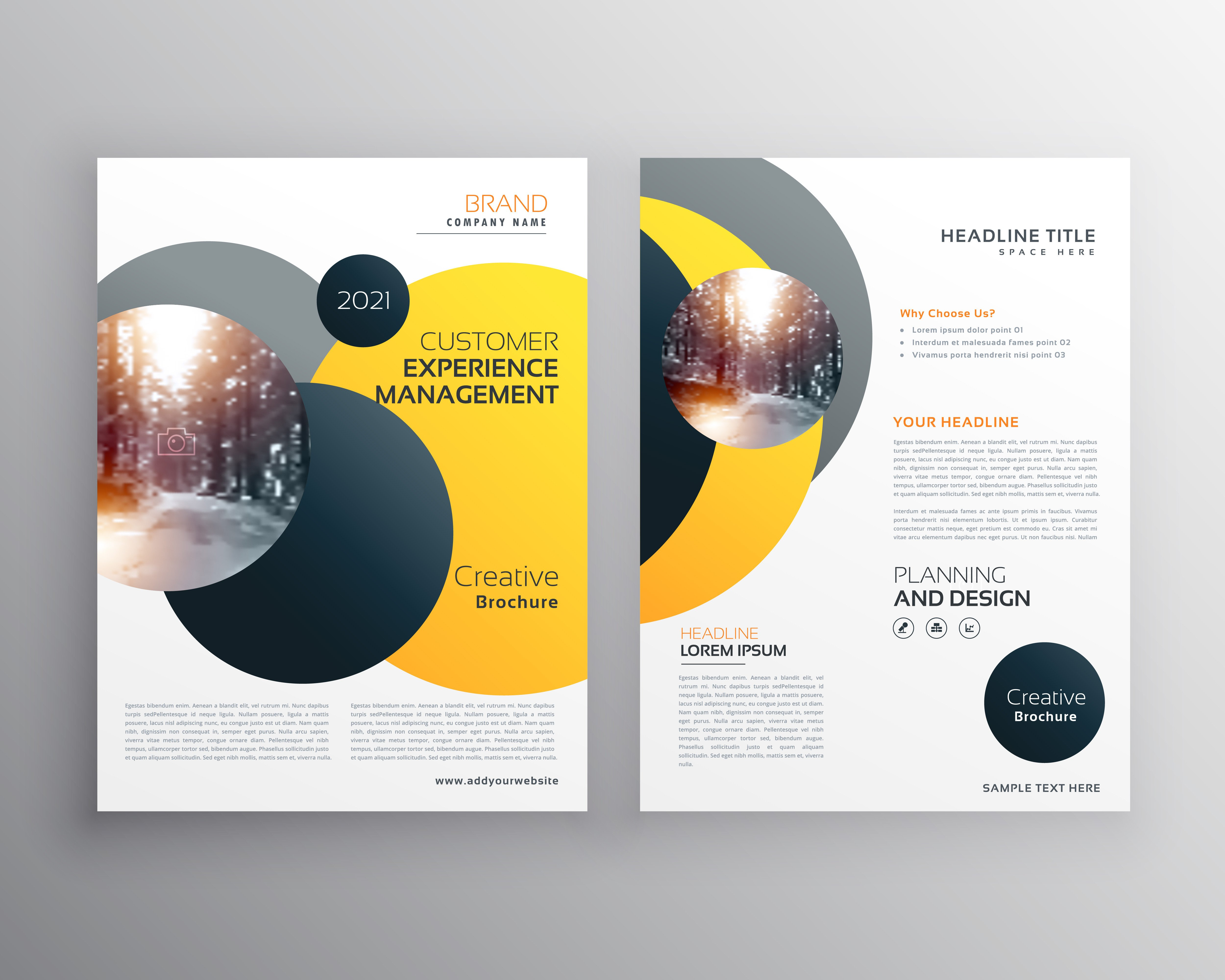 Free Poster Design Templates Modern Yellow Geometric Flyer Poster Design Template