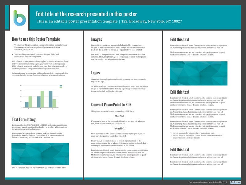 Free Poster Design Templates Presentation Poster Templates Free Powerpoint Templates