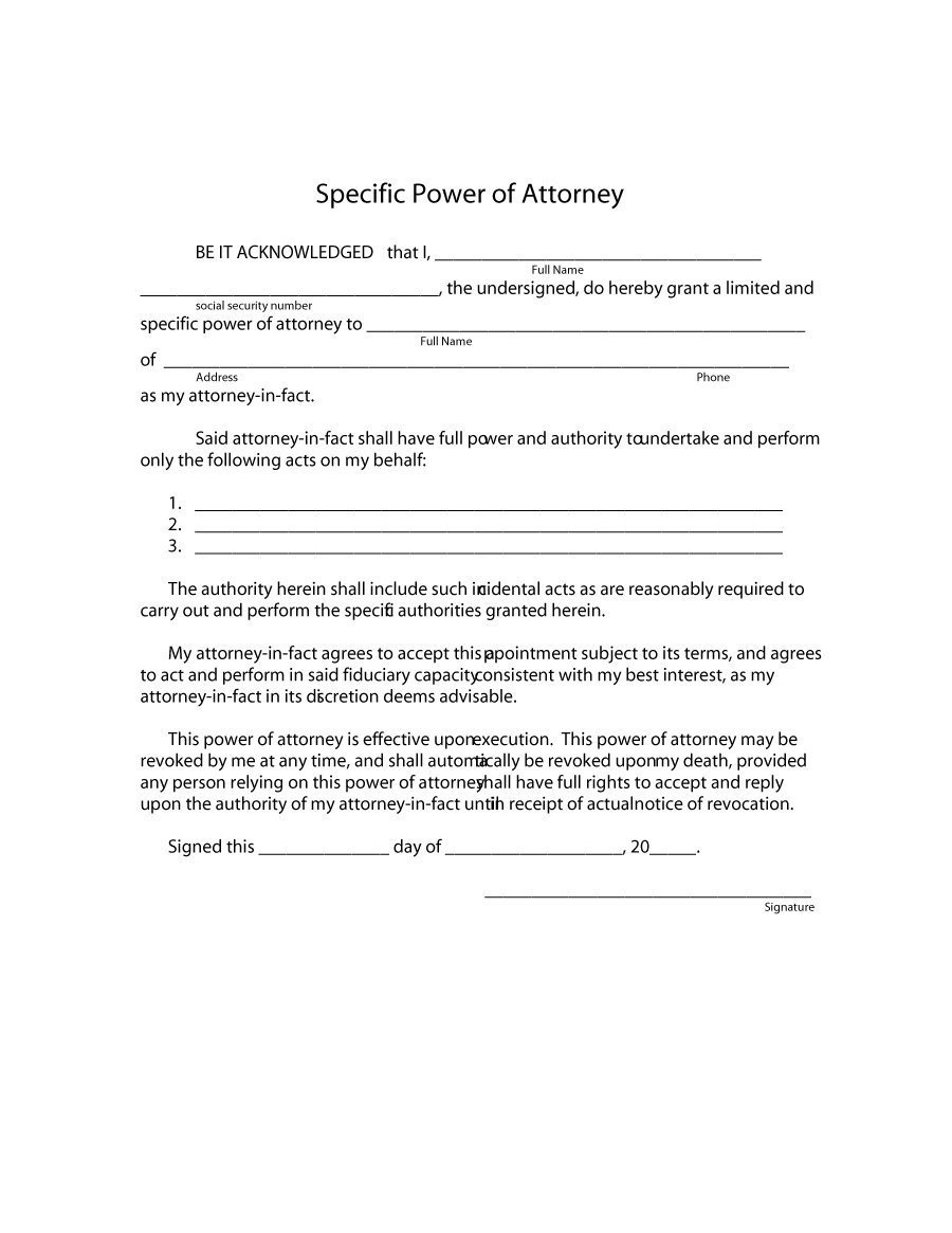 Free Power Of attorney Template 50 Free Power Of attorney forms & Templates Durable