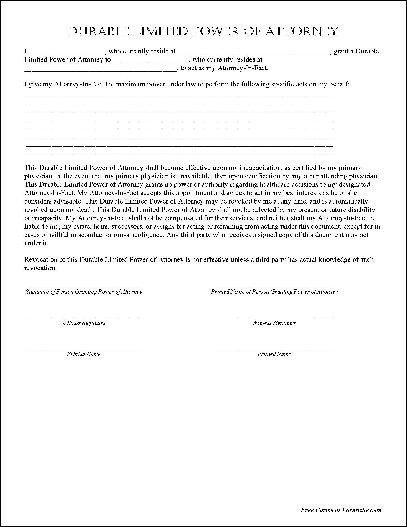 Free Power Of attorney Template Power attorney Template