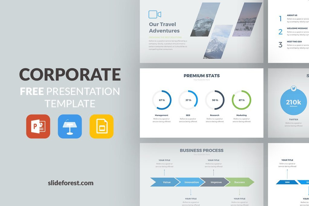 Free Power Point Templates Corporate Free Presentation Template Presentations