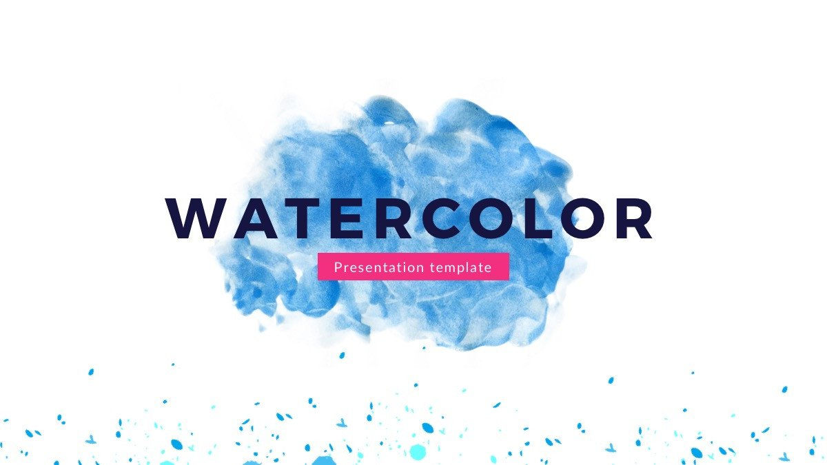 Free Power Point Templates Watercolor Free Powerpoint Template