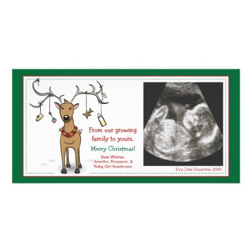 Free Pregnancy Announcement Templates Christmas Card Pregnancy Announcement Reindeer Card
