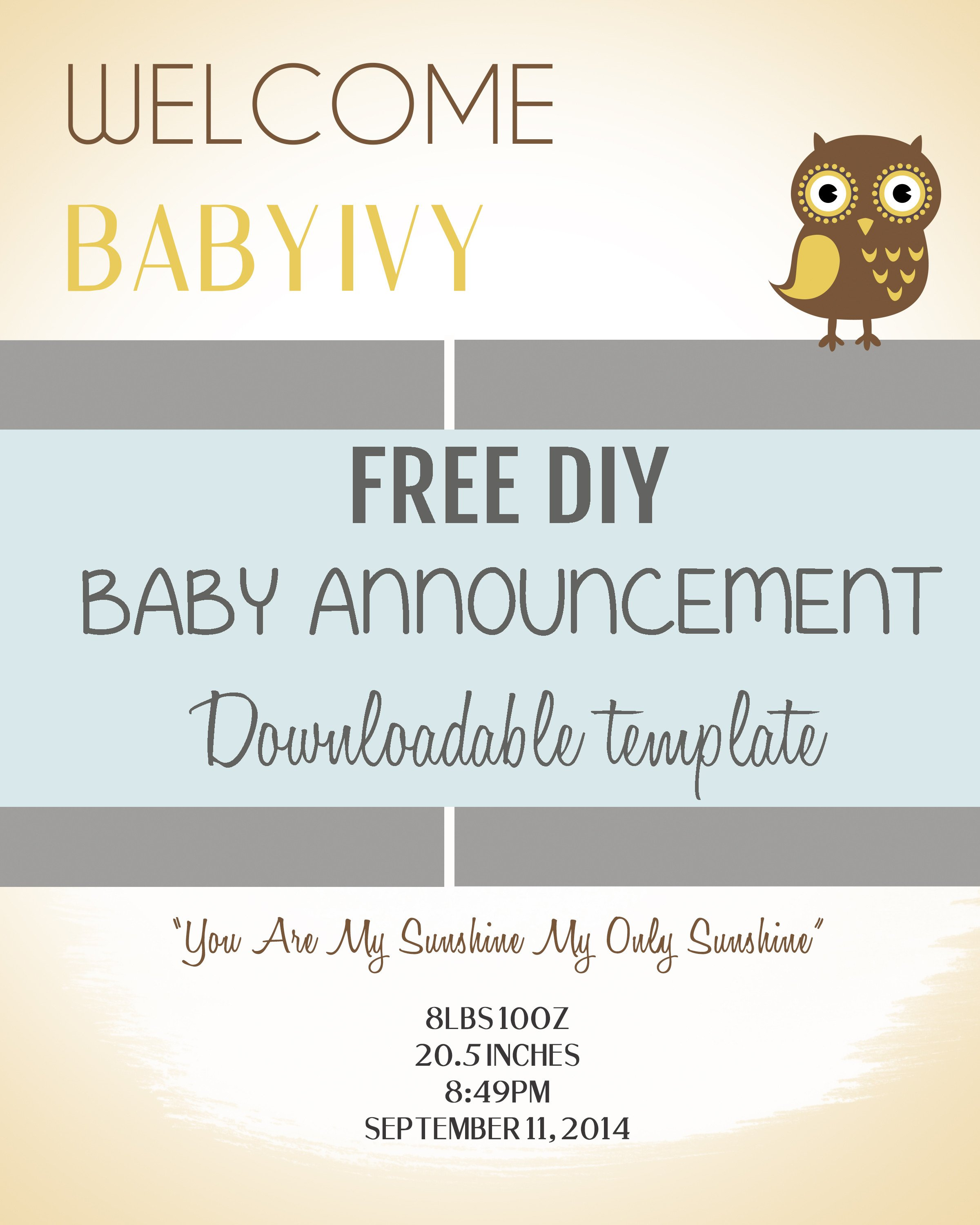 Free Pregnancy Announcement Templates Diy Baby Announcement Template Free Psd Download