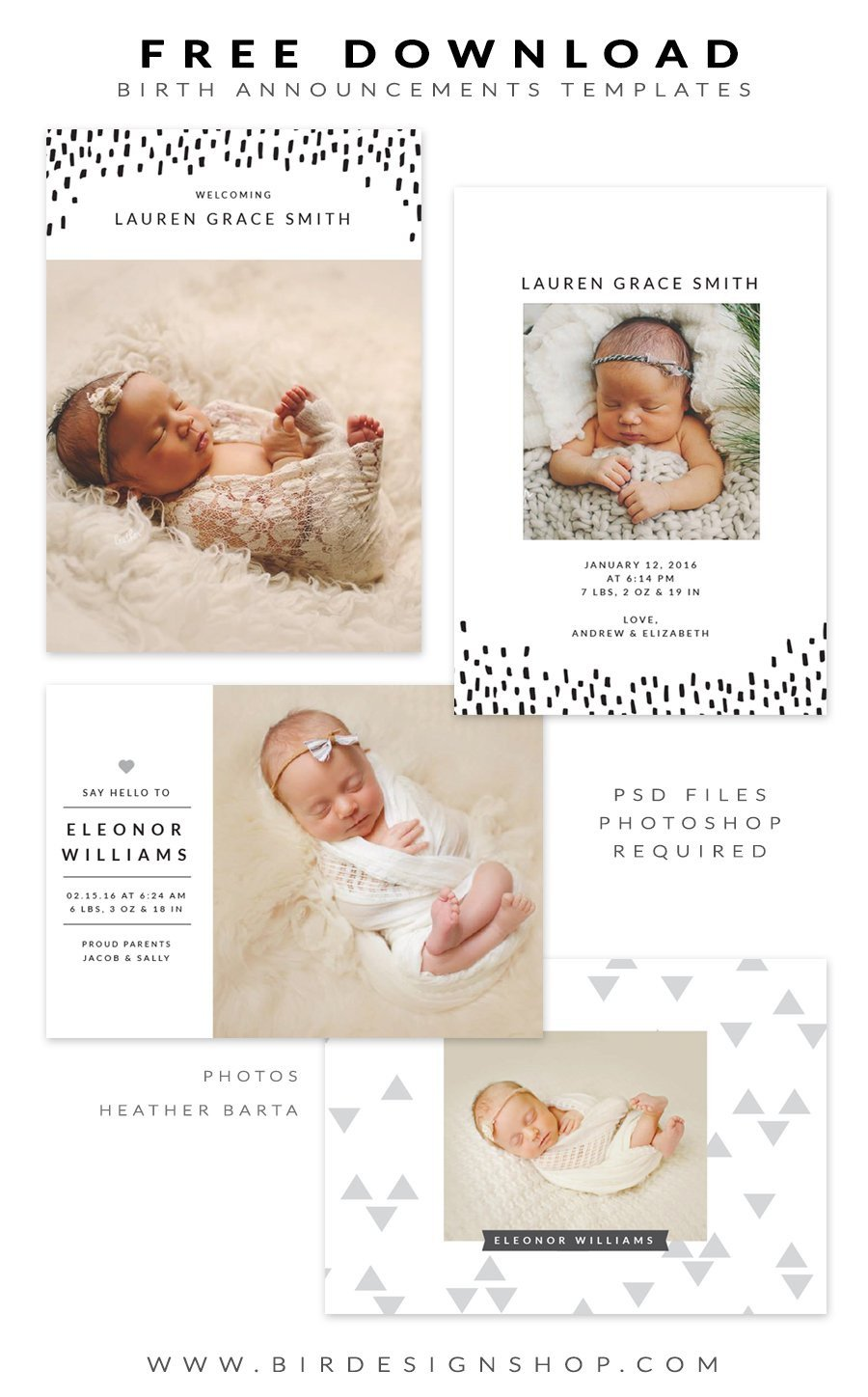Free Pregnancy Announcement Templates Free Birth Announcements Templates January Freebie