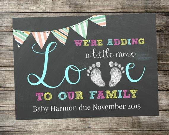 Free Pregnancy Announcement Templates Printable Pregnancy Announcement Adding Little More Love to