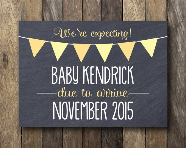 Free Pregnancy Announcement Templates Printable Pregnancy Announcement Chalkboard Pregnancy Reveal