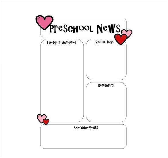 Free Preschool Newsletter Templates 10 Preschool Newsletter Templates – Free Sample Example