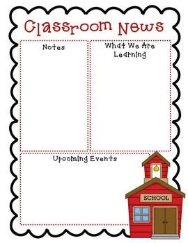 Free Preschool Newsletter Templates Best 25 Preschool Newsletter Templates Ideas On Pinterest