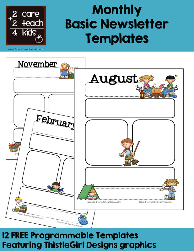 Free Preschool Newsletter Templates Munication