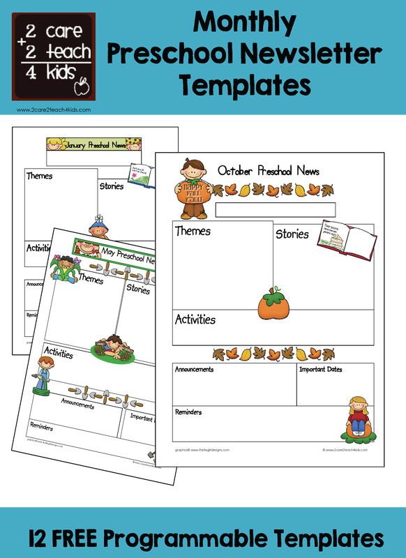 Free Preschool Newsletter Templates Preschool Newsletters Free Printable Templates
