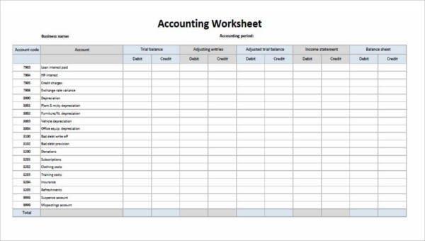 Free Printable Accounting forms 28 Printable Accounting forms