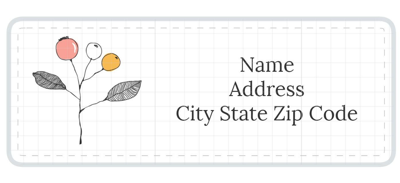 Free Printable Address Labels Template 1 789 Address Label Templates