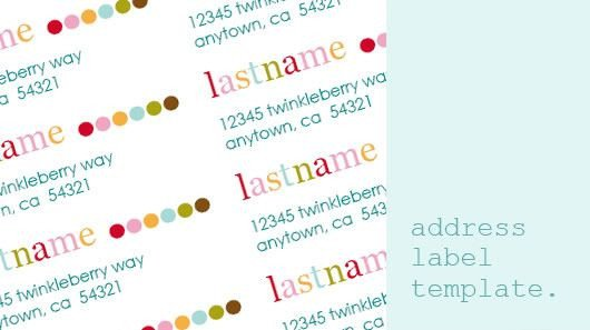 Free Printable Address Labels Template Daffodil Design Calgary Design and Lifestyle Blog