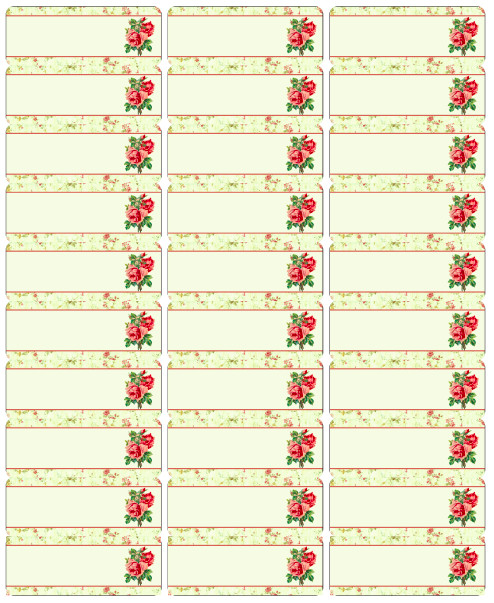 Free Printable Address Labels Template Free Vintage Rose Label Printables by Rachel Birdsell