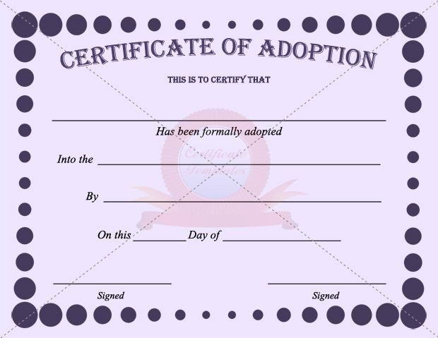 Free Printable Adoption Papers 42 Best Images About Adoption Certificate Templates On
