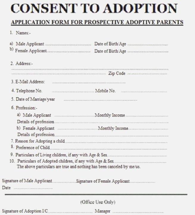 Free Printable Adoption Papers Best Versatile Printable Adoption Papers