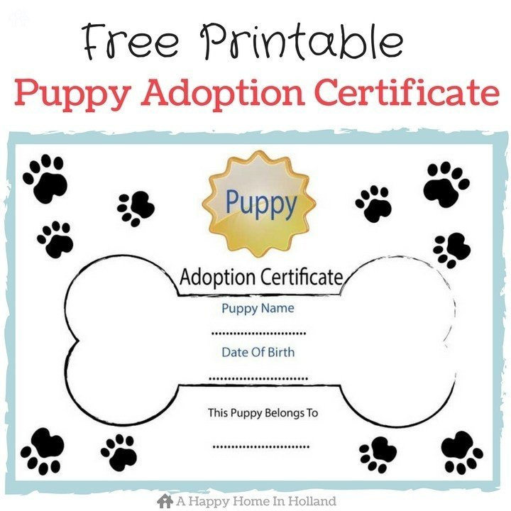 Free Printable Adoption Papers Children S Dog themed Party Ideas Lots Of Fun Ideas and