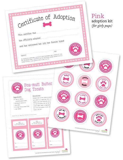 Free Printable Adoption Papers Free Printable Dog Adoption Kit