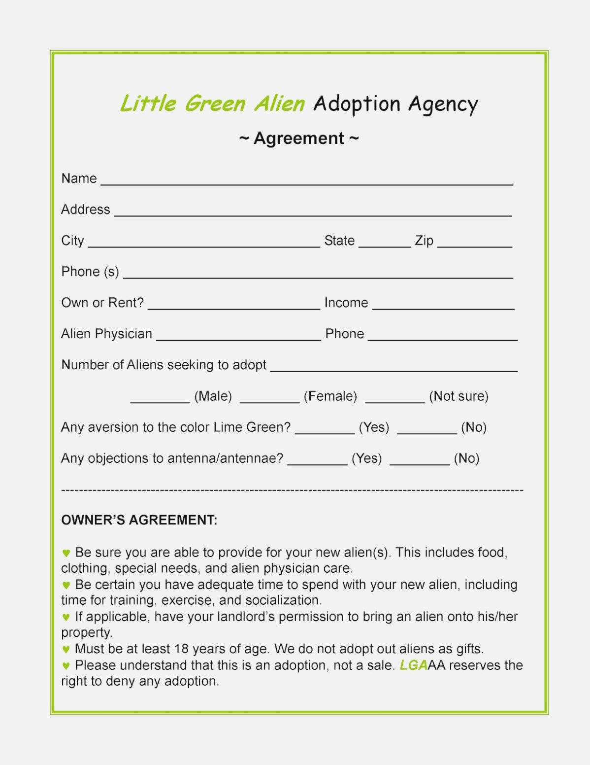 Free Printable Adoption Papers is Free Stepparent