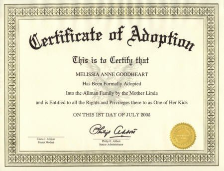 Free Printable Adoption Papers November 2011