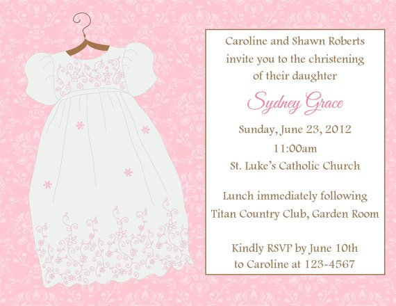 Free Printable Baptism Invitations Baptism Christening Invitation Printable File On Luulla