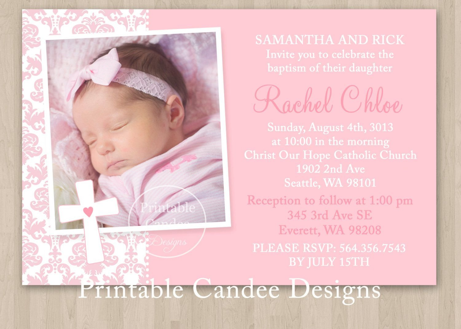 Free Printable Baptism Invitations Baptism Invitation Baptism Invitations In Spanish New